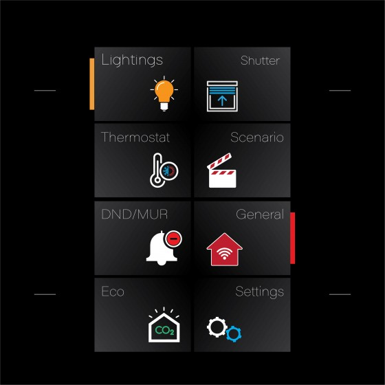 4 Button Just Touch with Touch Screen - Black Glass