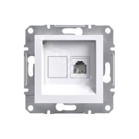 RJ45 SINGLE DATA SOCKET CAT6 UTP - WHITE (WITHOUT FRAME)...