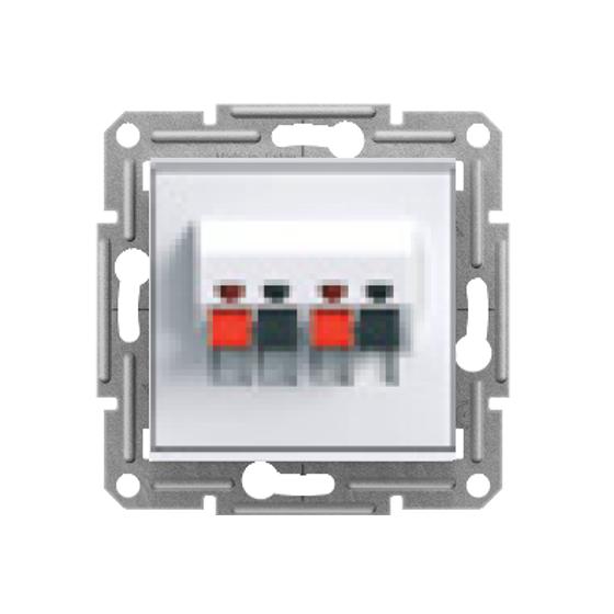 DOUBLE LOUDSPEAKER SOCKET - WHITE (WITHOUT FRAME) - (EU C...