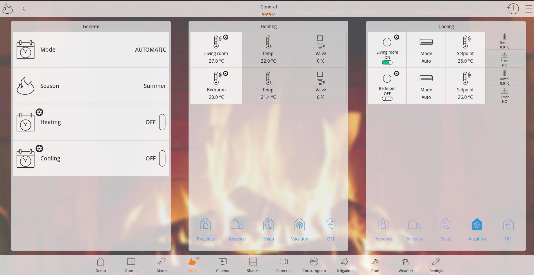 Smart home управление на отопление