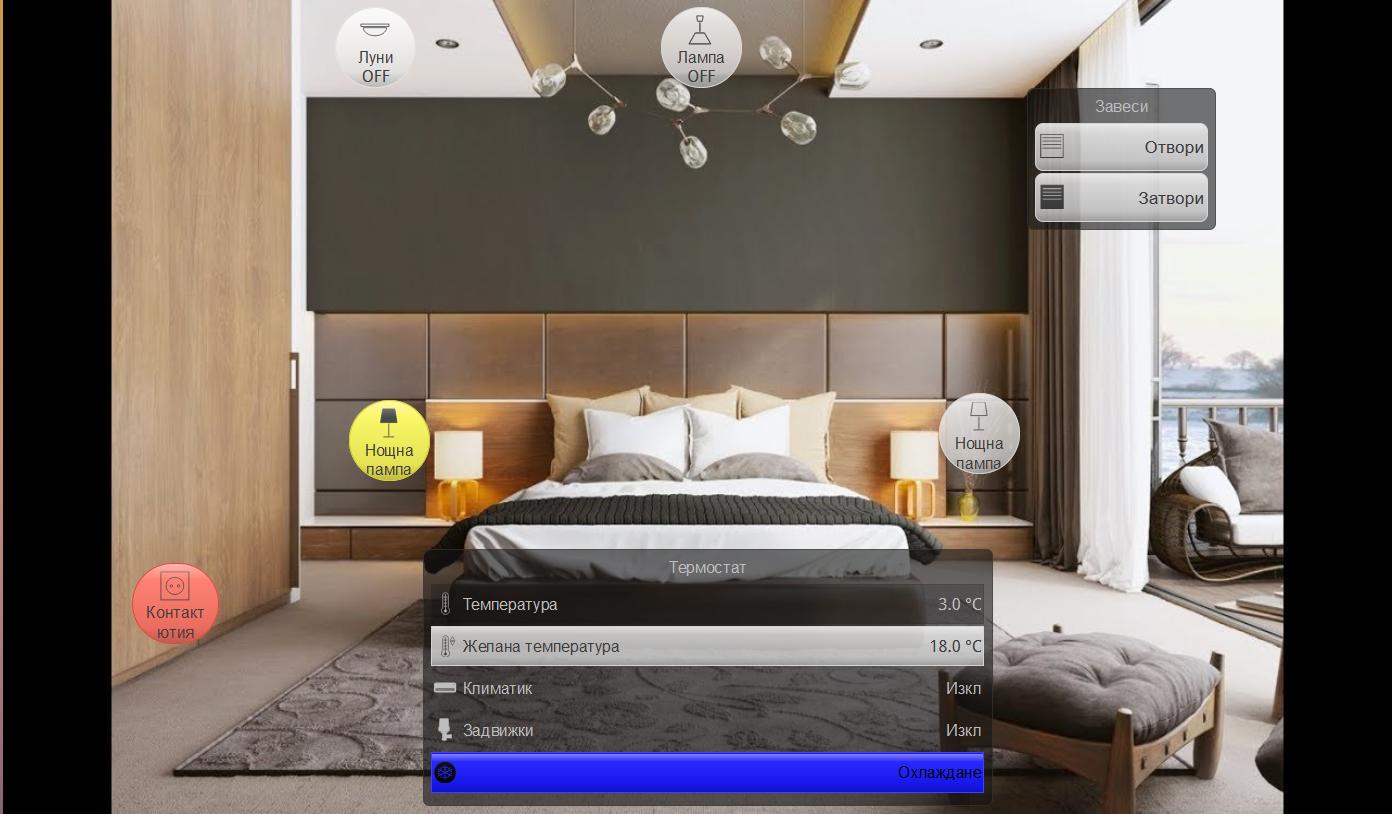умен дом спалня